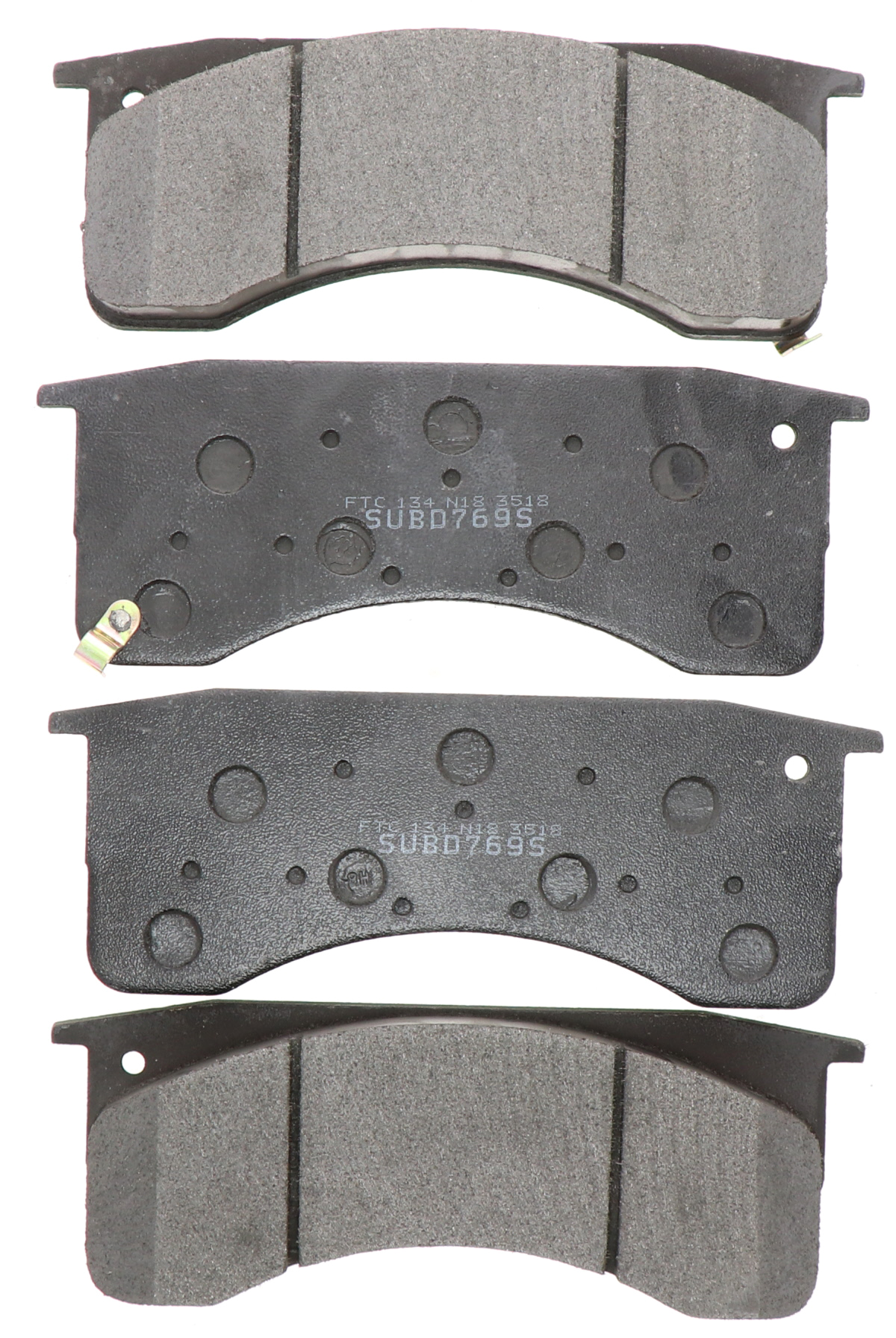 Disc Brake Pad Set-Semi-Metallic Pads Rear,Front Autopartsource MF769